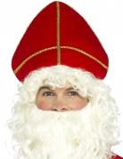 Rode Sinterklaas mijter voor volwassenen