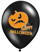 6 pompoen ballonnen Happy Halloween