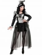 Donker gravin kostuum voor dames