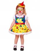 Geel kostuum clown voor meisjes