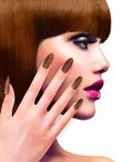 Koperkleurige glitter nep nagels voor volwassenen