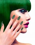 Groene glitter nagels voor volwassenen