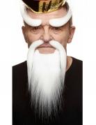 Witte Chinese snor set voor volwassenen