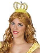 Goudkleurige prinses tiara voor volwassenen