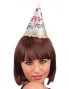 Lichtgevende Happy New Year mini hoed voor volwassenen