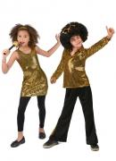 Goudkleurig disco koppel kostuum voor kinderen