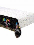 Plastic tafelkleed confetti Happy New Year