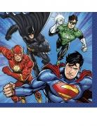 16 papieren Justice League™ servetten