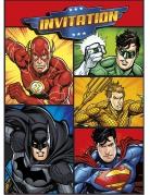 8 Justice League™ uitnodigingen en enveloppen