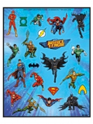 4 Justice League™ stickervellen