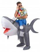 Opblaasbare haai kostuum voor volwassenen