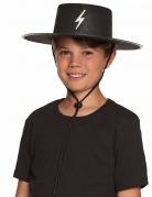 Gemaskerde held hoed voor kinderen