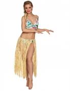 Lange Hawaiiaanse raffia rok voor volwassenen