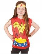 Wonder Woman™ t-shirt en tiara voor kinderen
