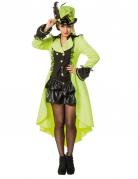 Luxe fluo gele jas voor volwassenen