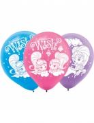 6 latex Shimmer & Shine™ ballonnen