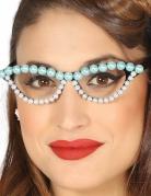 Jaren 50 kralen bril voor vrouwen