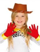 Rode korte handschoenen voor kinderen