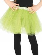 Lichtgroene tutu met glitters voor meisjes