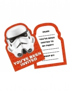 6 verjaardagsuitnodigingen Stormtrooper™