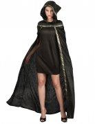 Lange zwarte heksen jurk voor dames