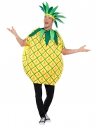 Geel en groen ananas kostuum voor volwassenen