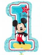 Aluminium ballon cijfer 1 Mickey Mouse™