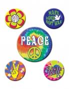 5 sixties hippie badges