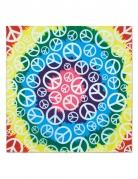 Veelkleurige hippie peace bandana