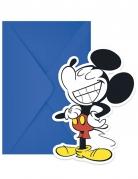 6 verjaardagsuitnodigingen Mickey Mouse™ retro