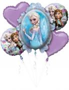 Boeket met 5 Frozen™ ballonnen