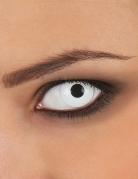 Wit oog contactlens op sterkte voor volwassenen