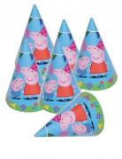 6 Peppa Pig™ feesthoeden