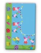 Plastic kleurrijk Peppa Pig™ tafelkleed