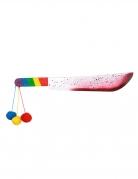 Bloederige clown machete voor volwassenen