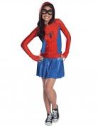 Spidergirl™ kostuum met capuchon voor meisjes