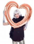 Roségouden hart ballon van aluminium
