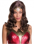 Wonder Woman superheldin pruik voor volwassenen