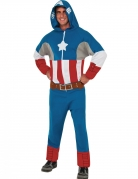 Captain America™ pak met capuchon outfit voor volwassenen