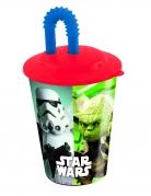 Plastic Star Wars™ beker met rietje