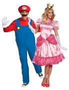 Peach™ en Mario™ koppelkostuum voor volwassenen