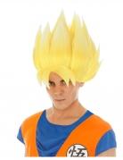 Gele Goku Saiyan Dragon Ball Z™ pruik voor volwassenen