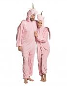 Grappig roze eenhoorn kostuum voor volwassenen