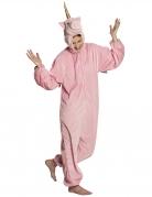 Roze eenhoorn varken kostuum voor tieners