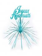 Blauwe Joyeux Anniversaire tafeldecoratie