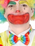 Veelkleurig clown strikje voor volwassenen
