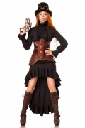 Luxe Steampunk strijder kostuum voor vrouwen