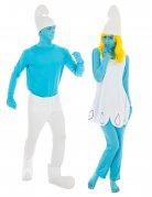 Smurf™ en Smurfin™ koppelkostuum voor volwassenen