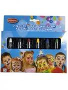 6 schminkpotloden op waterbasis voor kinderen