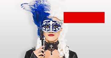Maskers voor carnavalskleding